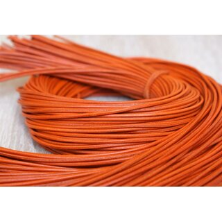 2,0mm Rindlederband, orange, rund