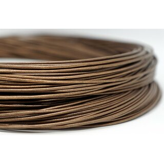 2,5mm Antilopenlederband, bronze, rund